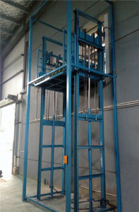 Stationary Hydraulic Guide Rail Goods Lift (SJD1-4.3D) pictures & photos