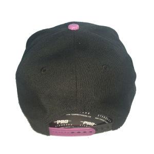 Black Colour Cotton 3D Embroidery Cap pictures & photos