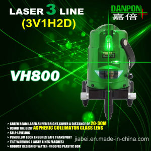 Green Beam Multi Line Self- Leveling Laser Level 2V1h Vh800 pictures & photos