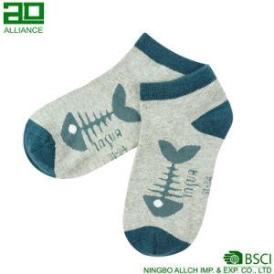 Wholesale Fish Bone Pattern Ankle Cotton Socks pictures & photos