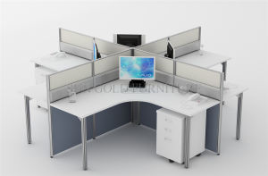 New Style Office Furniture Round Shape 4 Seats Workstation (SZ-WS673) pictures & photos