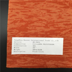 Cotton/Polyster Fabric Space Dyed Plush Cloth for Coat pictures & photos