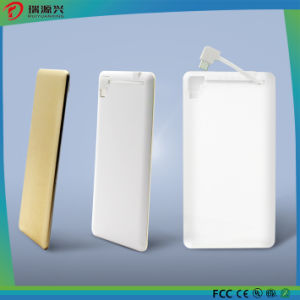 3000 mAh slim power bank with built-in cable for mobile phone charger pictures & photos