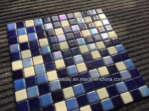 Luxurious Full Body Light Blue Glassic Mosaic for Swimming Pool pictures & photos
