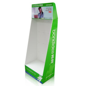 Cardboard Display with Hooks for Products, Cardboard Floor Display Stand pictures & photos