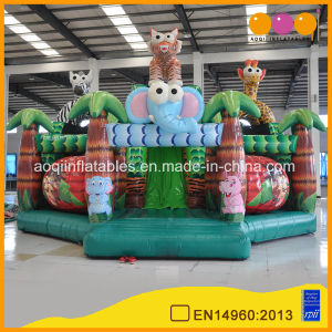 Animal Zoo Inflatable Park Safari Fun City Slide (AQ01761) pictures & photos