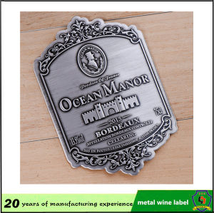 The Most Classic Design Custom Wine Bottle Metal Label pictures & photos
