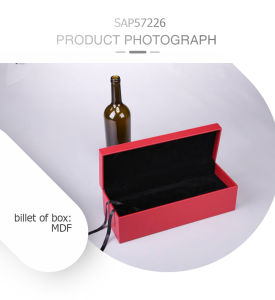 Aesthetic Customized MDF Leather Rigid Wine Packing Box pictures & photos
