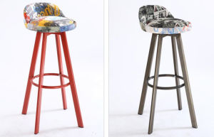 Work Well High Wooden Legs Commercial Bar Stool for Bar Furniture (LL-BC074) pictures & photos
