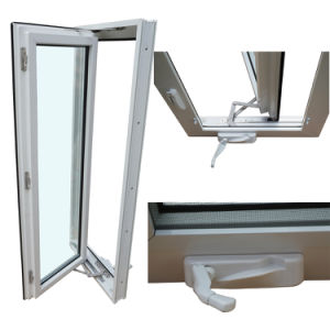 UPVC Hurricane Impact Windows Hand Crank with Triple Glass pictures & photos