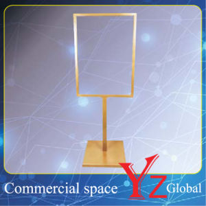 Display Stand (YZ161504) Poster Stand Sign Board Exhibition Stand Promotion Poster Frame Banner Stand Poster Board Store Stand Stainless Steel pictures & photos