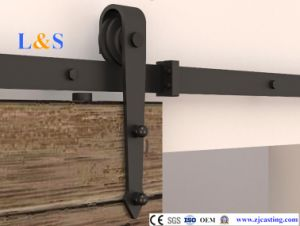 Black Sliding Door Hardware (LS-SDU 07)