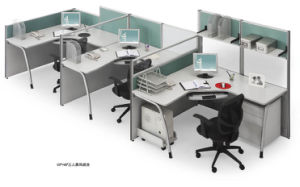 Modern High Partition Straight Office Modular Workstation pictures & photos