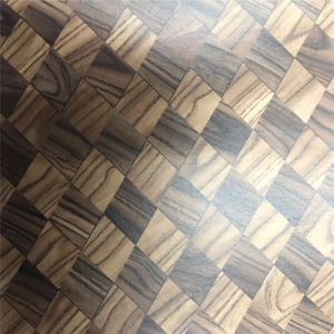 Wood-Grain Cork Leather Material for Shoe (HS-M308) pictures & photos