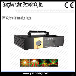 DMX512 RGB 1W Colorfull Animation Laser Light