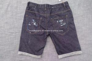 10.1oz Black Jeans Shorts (HS-28401T) pictures & photos