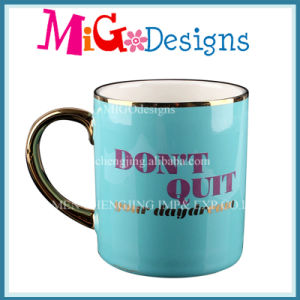 Electroplating Ceramic Mugs with Handle pictures & photos