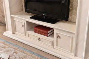 Ce Approved Modern MDF TV Stand Fireplace Home Furniture (346) pictures & photos