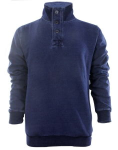 Men New Design Knitting Denim Button Sweatshirts Top Clothing (EE17028) pictures & photos