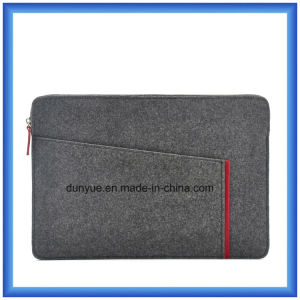 New Fashion Eco-Friendly Material of 70% Content Wool Felt Laptop Briefcase Bag, Custom Portable Soft Laptop Bag with Zipper pictures & photos
