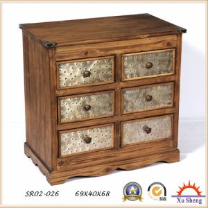 Wooden Cabinet Shabby Chic Furniture Multi-Drawer pictures & photos