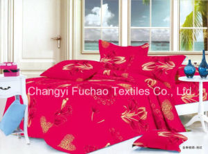 Microfiber Plain Dyed Cheap Bed Sheet Set Bedding Set Home Textile pictures & photos