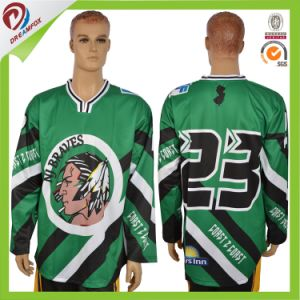 Breathable Cheap Custom Subliamted Goalie Cut Ice Hockey Jerseys pictures & photos