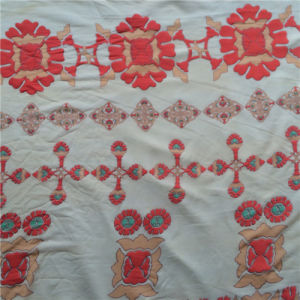 Burn out Discharge Printed Nylon Opal in Floral Design pictures & photos