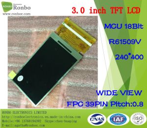 "3.0"" 240*400 MCU 18bit 39pin, IC ODM TFT LCD Option Resistive Touch Panel pictures & photos"