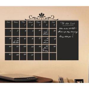 Customized Calendar Decal with PVC Chalk Marker Week Blackboard Chalk Sticker pictures & photos