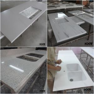 Prefab Artificial Stone Acrylic Solid Surface Countertop pictures & photos