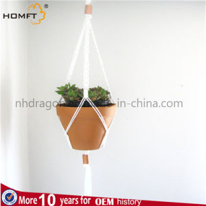 Copper White Color Deco Room Hotel Rope Plant Hanger Pot Holder pictures & photos