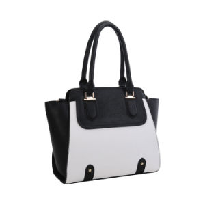 Contrast Colors Boat Shape Lady Fashion Handbag (MBNO042003) pictures & photos