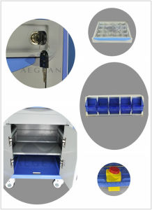 AG-At001A3 Medication ABS Trolleys Hospital Anesthesia Cart pictures & photos