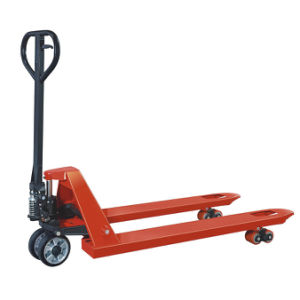 Hydraulic AC Casting Pump Hand Pallet Truck with PU Wheel pictures & photos