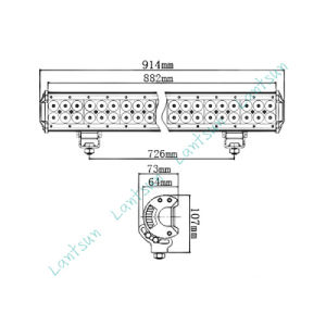 Top Sale 234W 36 Inch LED Light Bar Series 4 pictures & photos