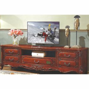 Wooden TV Stand with Flower Stand for Living Room Furniture