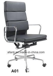 High Back Swivel Aluminium Eames Office Leather Chair (E001A-1) pictures & photos
