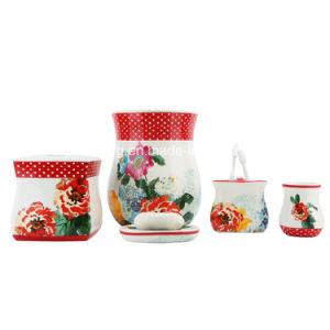 Country Gardens Decal Ceramic&Nbsp; Bathroom Accessory / Bath Accessory / Bathroom Set pictures & photos