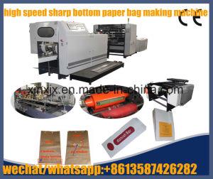 High Speed Inverter Drive Servo Motor Control V Bottom Paper Bag Making Machine pictures & photos