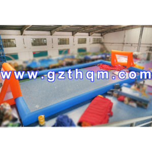 Water Football Game Inflatable Soap Soccer Field/High Quality Inflatable Football Pitch pictures & photos