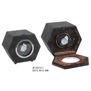 Handmade Packaging Box Watch Showcase Leather Watch Winder pictures & photos