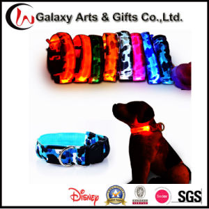 Custom LED Products Flashing Clowing Camouflage Nylon Pet LED Dog Collars pictures & photos