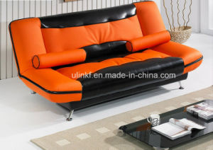 3 Seats Foldable Living Room Bed Function Leather Sofa (HX-AC057) pictures & photos