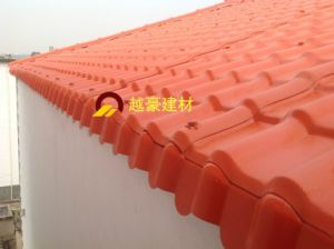 Trade Assurance Synthetic Resin Roofing Tile /ASA Spanish Roofing Tile /ASA PVC Plastic Roof Tile pictures & photos