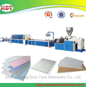 Plastic Profile Board PVC Ceiling Wall Panel Extrusion Making Machine pictures & photos