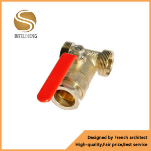 Brass Three Way Threaded Ball Valve pictures & photos