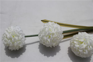 Silk 3 Heads Artificial Hydrangea Flowers Real Touch Hydrangea pictures & photos