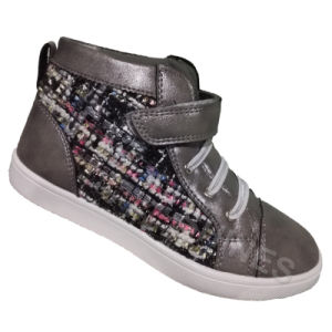 Silver High Top Injection Shoes for Girls pictures & photos