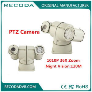 360 Degree Rotate Vehicle Mounted Waterproof PTZ Camera with IR Lights pictures & photos